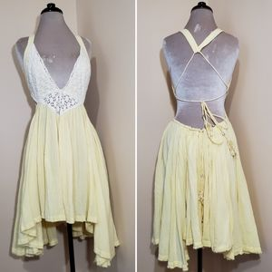 Freen People Endless Summer Yellow Circle Dress